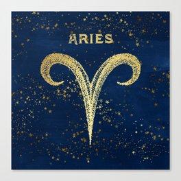 Aries Zodiac Sign Canvas Print