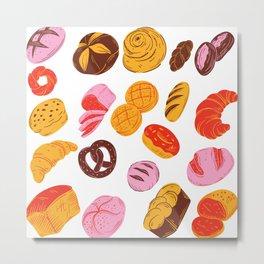 Pastries Pattern  Metal Print