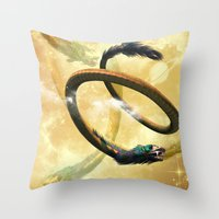 dragon Throw Pillows featuring Dragon by nicky2342