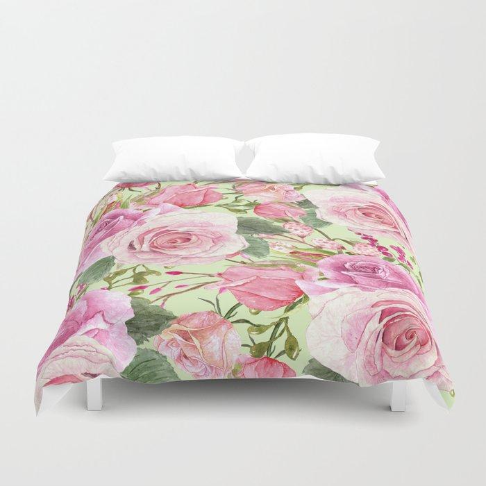 Watercolor Roses #5 Duvet Cover