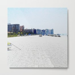 South Side of Marco Island, Florida Beach Metal Print