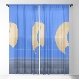 May's Speech To Despair and Treachery - shoes story Sheer Curtain