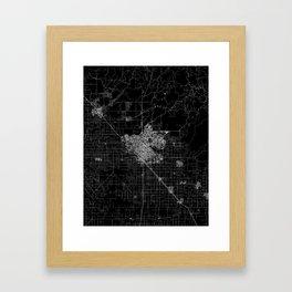 Fresno map Framed Art Print