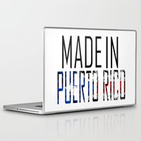 puerto rico Laptop & iPad Skins featuring Made In Puerto Rico by VirgoSpice