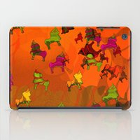 chicago bulls iPad Cases featuring Dancing Bulls by Iconografico