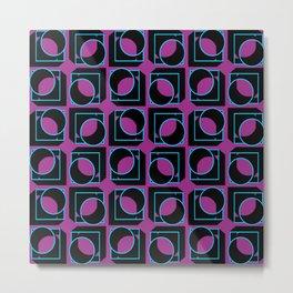 Tubes in Cubes on Lavender Metal Print