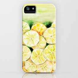 Limes and lemons iPhone Case