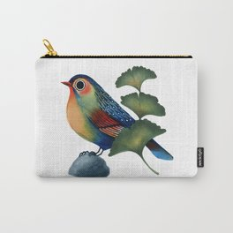 Ginkgo Bird Carry-All Pouch