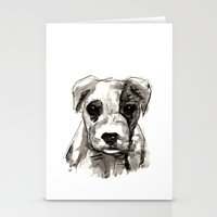 puppy Stationery Cards featuring Puppy  by Cedric S Touati