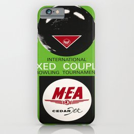 international mixed couple bowling vintage Poster iPhone Case
