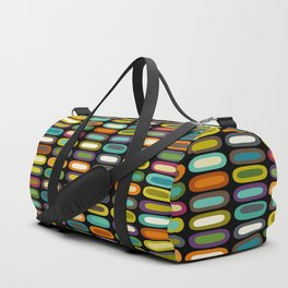 lozenge black Duffle Bag