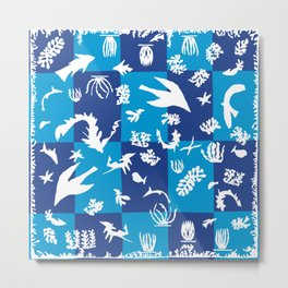 Matisse Cut Out Collage - Seascape Metal Print