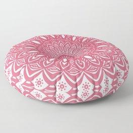 Red Wine Color Mandala Minimal Minimalistic Simple (Yet Bold) Floor Pillow