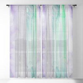 10     190907   Watercolor Abstract Painting Sheer Curtain