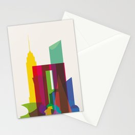 Shapes of Mexico City accurate to scale Stationery Cards