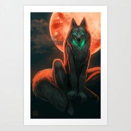 Werewolf (#Drawlloween2016 Series) Art Print