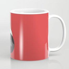 2001 A Space Odyssey - Stanley Kubrick minimalist movie poster, Red Version, fantasy film Coffee Mug