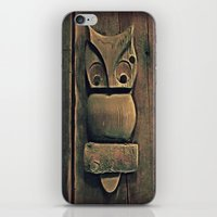 wooden iPhone & iPod Skins featuring Wooden Owl by Dorothy Pinder