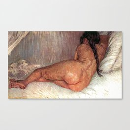 Van Gogh Nude Woman Reclining Seen From The Back Canvas Print