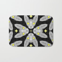Sphynx Cat Black Pattern Bath Mat