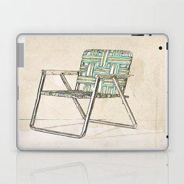Digital Retro Relic Classic Lawnchair Digital Art Sodaartstudio Laptop & iPad Skin