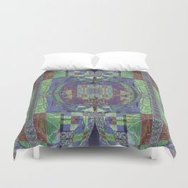 Geometric Futuristic Quilt 2: Calm Surrender Duvet Cover