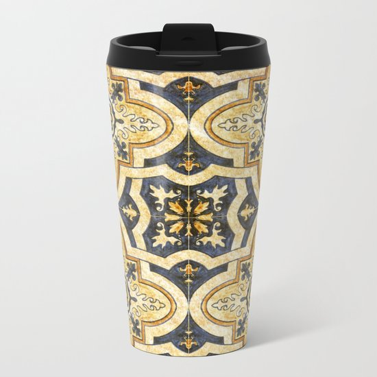 Ornamental pattern Metal Travel Mug