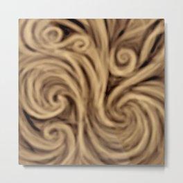 bohemian burnt sienna swirl pattern Metal Print