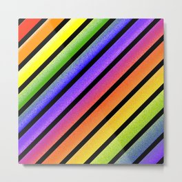 Rainbow Frost Metal Print