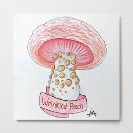 Wrinkled Peach Metal Print