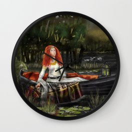 The Lady of Shalott 2017 Wall Clock
