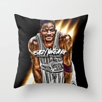 fresh prince Throw Pillows featuring Jordan SMITH (THINK FRESH PRINCE) by EAZYYOKEART