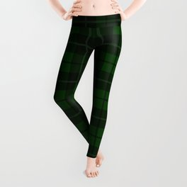 Forest Green Plaid Leggings