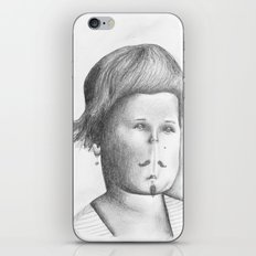 Mustached Girl  iPhone & iPod Skin