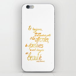 ... changing into beauty iPhone Skin