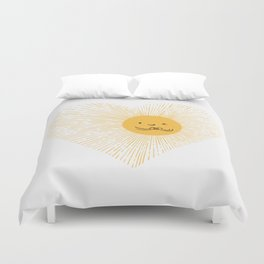 You are the Sunshine of my heart Duvet Cover