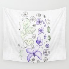 Violet Watercolor Wall Tapestry