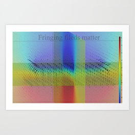 Fringing fields Art Print