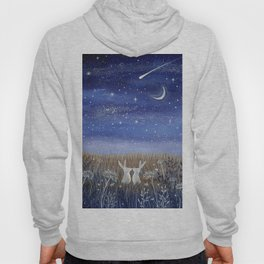 Hares and the Crescent Moon Hoody