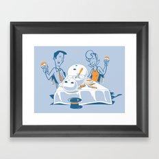 Neighbors Ate My Snowman Framed Art Print