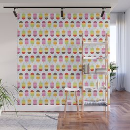 Kawaii Summer Ice Lollies / Popsicles Wall Mural