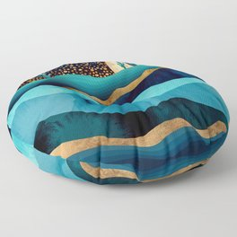 Indigo Desert Night Floor Pillow