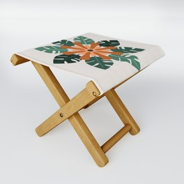 Tropical Flower Folding Stool