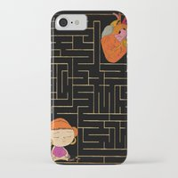 labyrinth iPhone & iPod Cases featuring labyrinth by Christina Tsevis