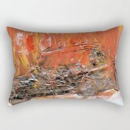 burning car Rectangular Pillow