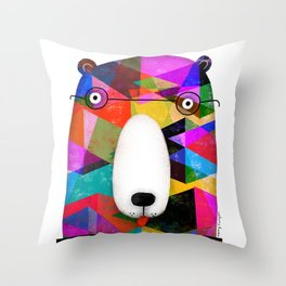 BEAR SPECTACLES Throw Pillow
