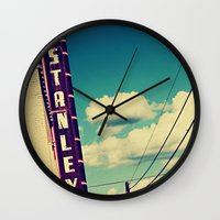stanley kubrick Wall Clocks featuring Stanley by Trish Mistric