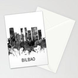 Bilbao Spain Skyline BW Stationery Cards