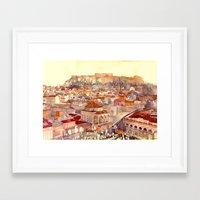 takmaj Framed Art Prints featuring Athens by takmaj