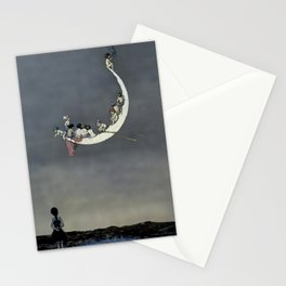 """"""" Moon's First Voyage"""" Fairy Art by W Heath Robinson Stationery Cards"""